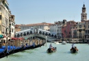 Gondolierie, Grand Canal, Venedig