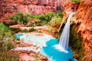 Havasu Wasserfall, Havasupai Indian Reservation