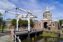 Stadttor Morpoort in Leiden, Holland