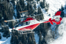 Hubschrauber Eurocopter EC135 T1 in Courchevel