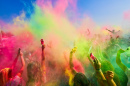 Holi Festival of Colours, Saloniki, Griechenland