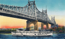 Postkarte der Queensboro Bridge