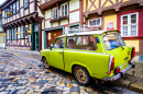 Alter Trabant in Quedlinburg, Deutschland