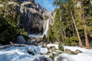 Lower Yosemite Falls im Winter