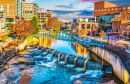 Innenstadt von Greenville, South Carolina