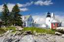Pemaquid Point Leuchturm in Bristol, Maine